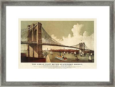 The East River Framed Print by MotionAge Designs