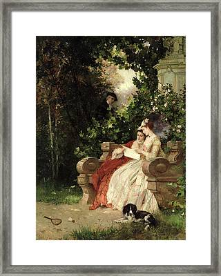 The Eavesdropper Framed Print by Carl Heinrich Hoff