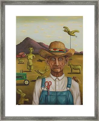 The Eccentric Farmer Framed Print by Leah Saulnier The Painting Maniac