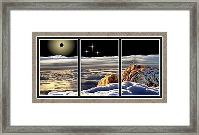 The Eclipse At Calvary Split Image Framed Print