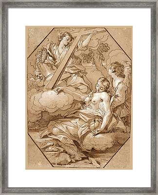 The Ecstasy Of St Mary Magdalene Framed Print