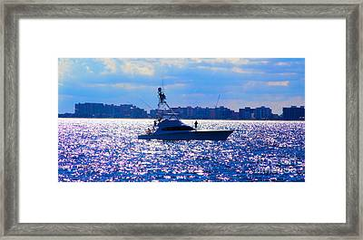 The Edge Framed Print by Carey Chen