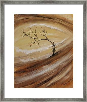 Framed Print featuring the painting The Edge by Christie Minalga