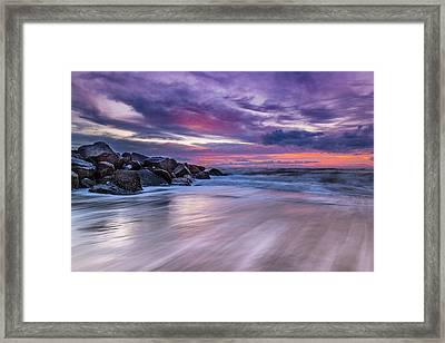 The Edge - Folly Beach, Sc Framed Print