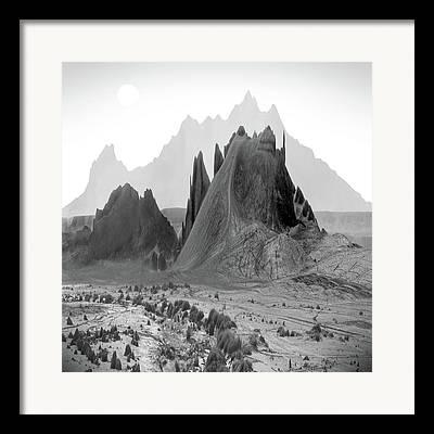 Mountain Mixed Media Framed Prints