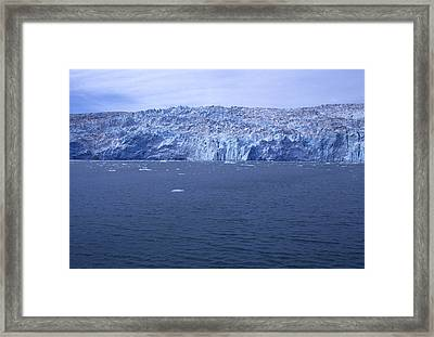 The Edge Of Columbia Glacier, Alaska Framed Print by Stacy Gold