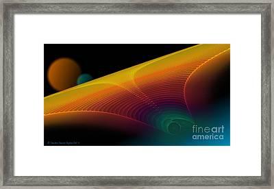 The Edge Of Existence Framed Print by Sandra Bauser Digital Art