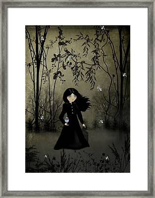 The Edge Of Night Framed Print by Charlene Zatloukal