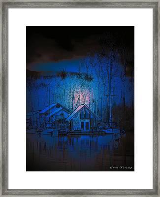 The Edge Of Night Framed Print by Steve Warnstaff