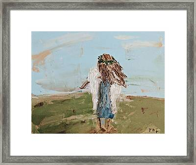 The Edge Of The Field Framed Print