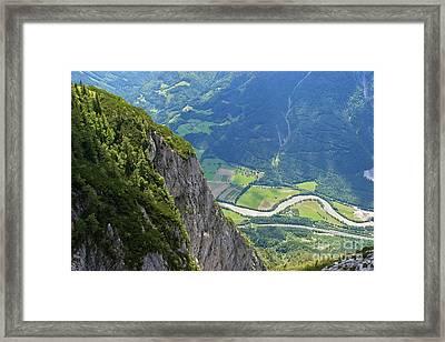 The Edge Of The Precipice Framed Print by Hideaki Sakurai