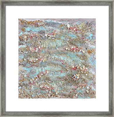 The Edge Of The Sea Framed Print by Donna Blackhall