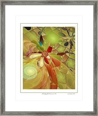 The Edge Of The Universe In Me Framed Print by Gayle Odsather