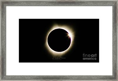 The Edge Of Totality 2 Framed Print