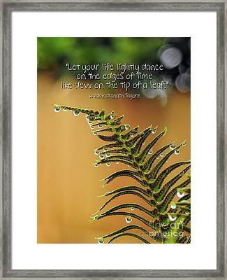 Framed Print featuring the photograph The Edges Of Time by Peggy Hughes