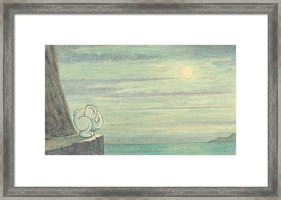 The Effect Of The Moon Is Extraordinary Framed Print by Herbert Crowley