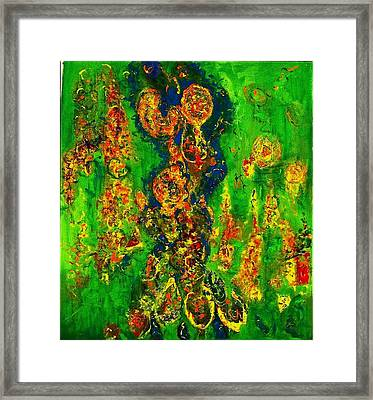 The Effusion Framed Print by Chitra Ramanathan