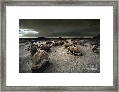 The Egg Factory - Bisti Badlands Framed Print by Keith Kapple