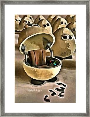The Egg Pilot Framed Print by Leonardo Digenio