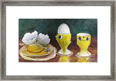 The Egghead And The Airhead Framed Print