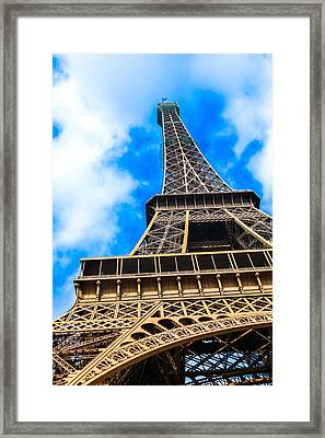 The Eiffel Tower From Below Framed Print