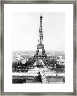 The Eiffel Tower With A View Of Paris Framed Print by French School