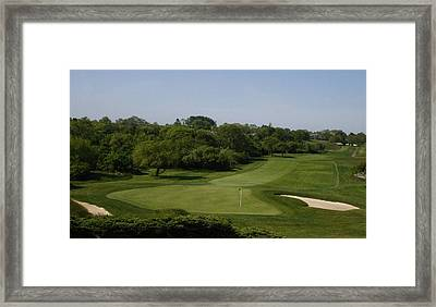 The Eighteenth At Montauk Downs Framed Print by Christopher Kirby