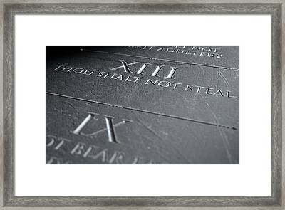 The Eighth Commandment Framed Print