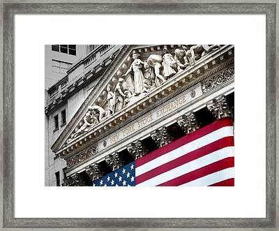 The Elaborate Stone Work On The New Framed Print by Justin Guariglia