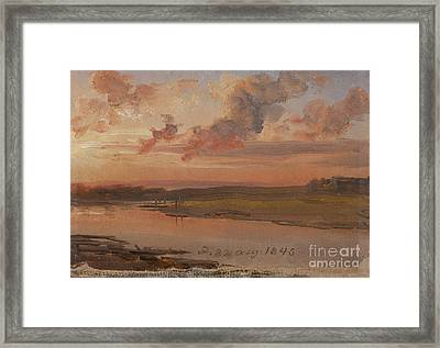 The Elbe In Evening Light Framed Print by Celestial Images