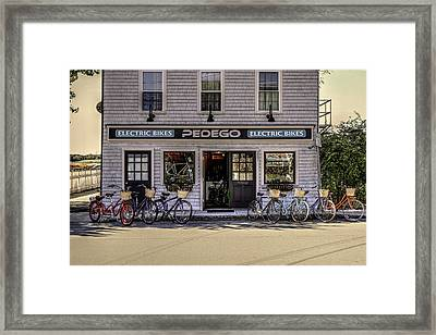 Framed Print featuring the photograph The Electric Bike Shop Bristol Ri by Tom Prendergast