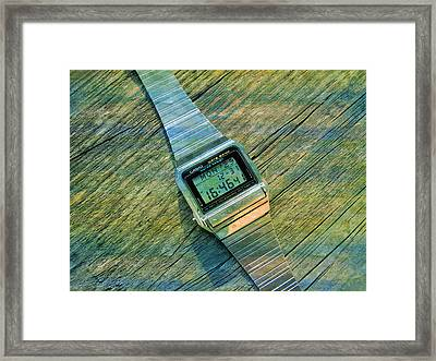 The Electronic Watch Casio Watch  Framed Print
