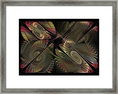 Framed Print featuring the digital art The Elementals - Calling The Corners by NirvanaBlues