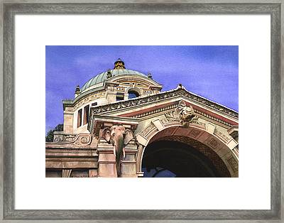 The Elephant House Bronx Zoo Framed Print by Marguerite Chadwick-Juner