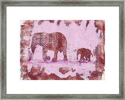 The Elephant March Framed Print
