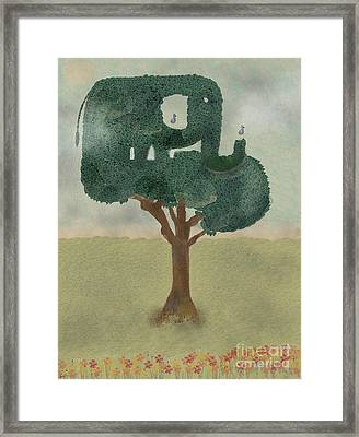 Framed Print featuring the painting The Elephant Tree by Bri B