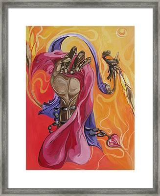 The Elusive Muse Framed Print by JaFleu