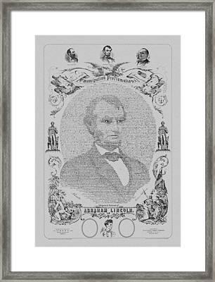The Emancipation Proclamation Framed Print by War Is Hell Store