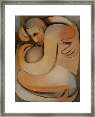 The Embrace Art Print Framed Print by Tommervik