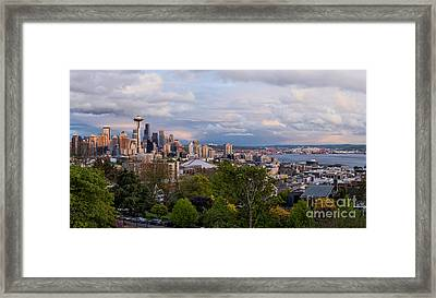 Framed Print featuring the photograph The Emerald City  by Anthony Citro