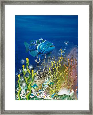 The Emerald Grouper Framed Print by Lee Pantas