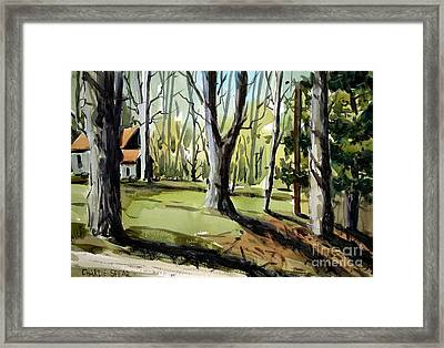 Framed Print featuring the painting The Emerald House In Spring Matted Glassed And Framed by Charlie Spear