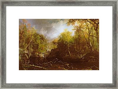 The Emerald Pool Framed Print by Albert Bierstadt