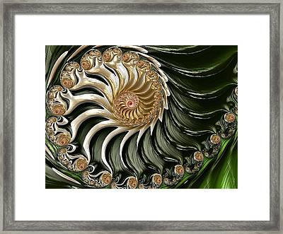 The Emerald Queen's Nautilus Framed Print
