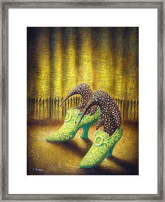 The Emerald Ships Framed Print by Lolita Bronzini