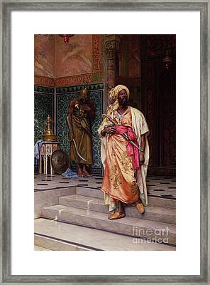 The Emir Framed Print by Ludwig Deutsch