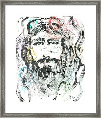 The Emotions Of Jesus Framed Print by Nadine Rippelmeyer