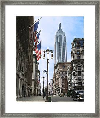 The Empire State, 1933 Framed Print