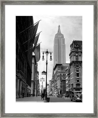 The Empire State Building Circa 1933 Framed Print by Jon Neidert