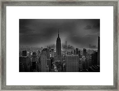 The Empire State Building Framed Print by Martin Newman